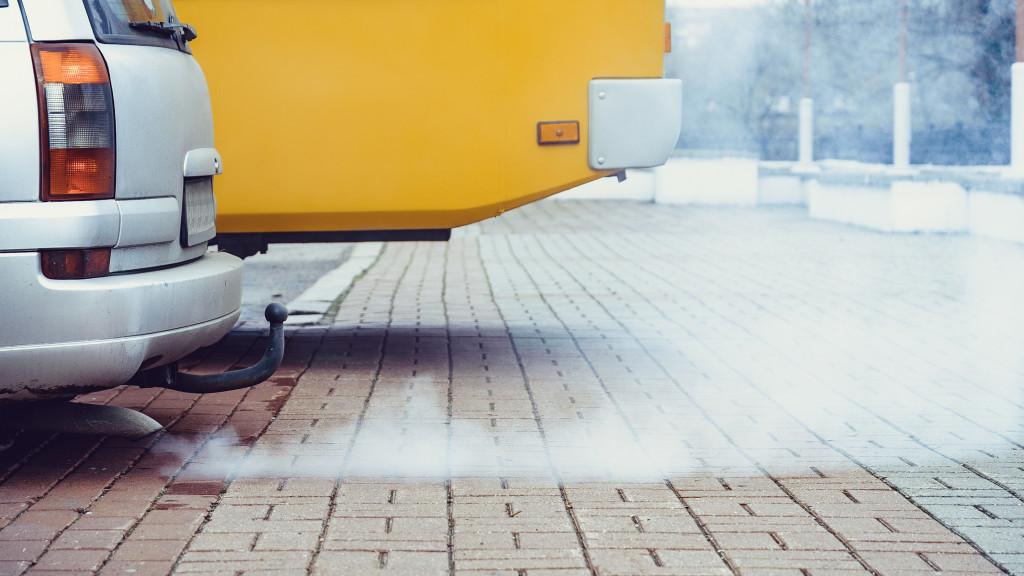 Car's fumes emissions